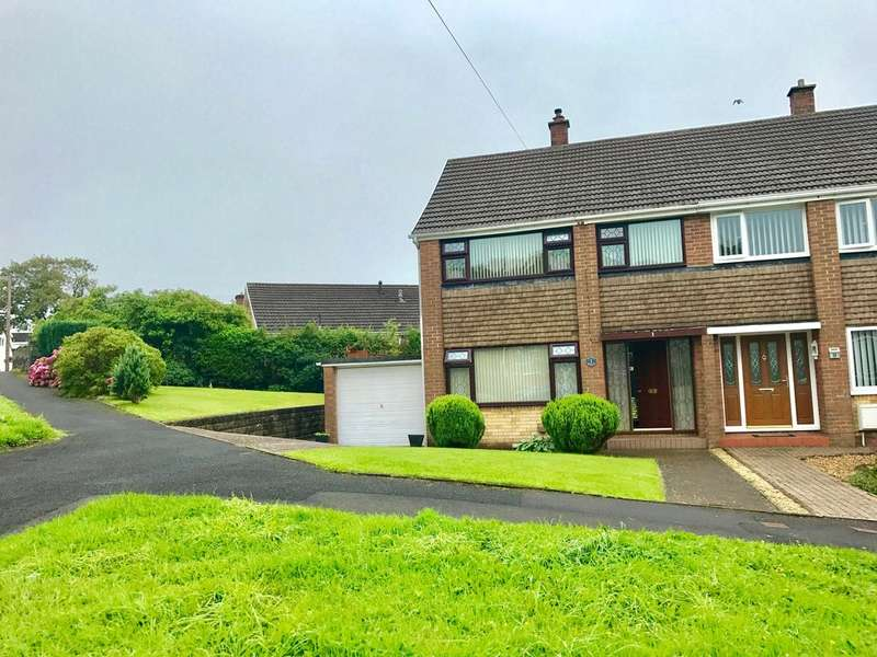 3 Bedrooms Semi Detached House for sale in Alexander Crescent, Bryncoch, Neath