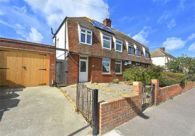 3 Bedrooms Semi Detached House for sale in Fernleigh, Dalmaney Close, Broadstairs, Kent