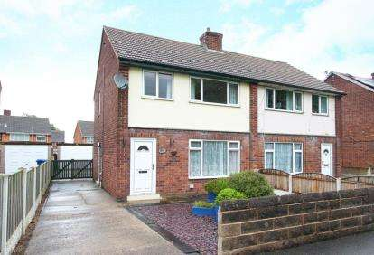 3 Bedrooms Semi Detached House for sale in Moor View Road, Staveley, Chesterfield, Derbyshire