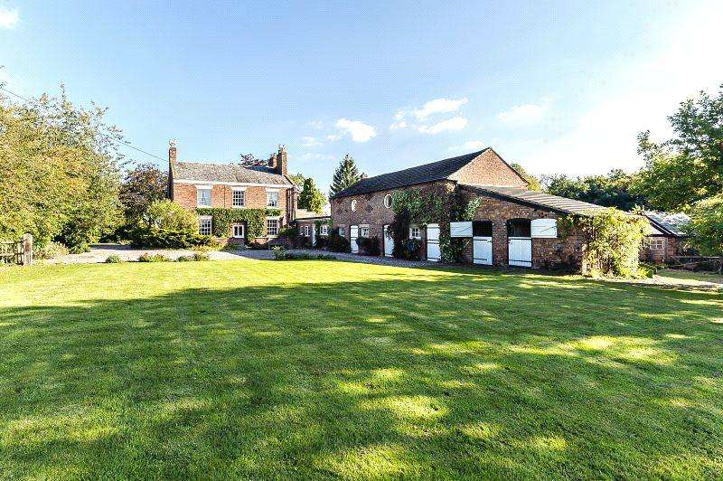 5 Bedrooms Detached House for sale in Brookhouse Lane, Minshull Vernon, Middlewich, Cheshire
