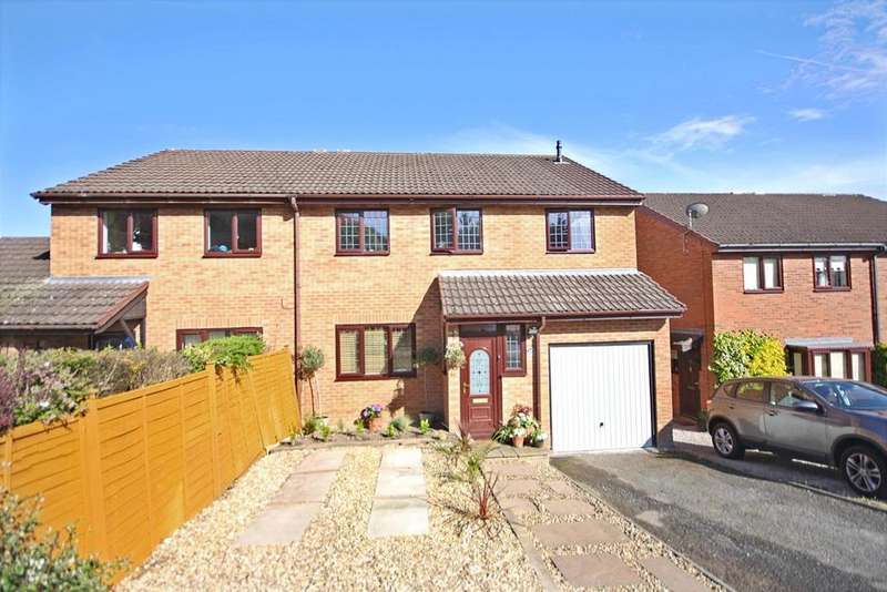 4 Bedrooms Semi Detached House for sale in Jasmine Gardens, Oswestry