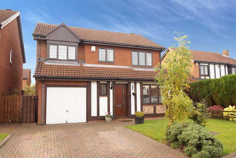 4 Bedrooms Detached House for sale in Shrewsbury Close, Church Green, Newcastle Upon Tyne