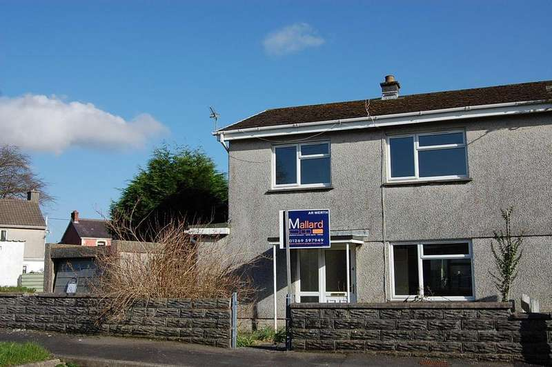 3 Bedrooms Semi Detached House for sale in Ger-Yr-Afon, Glanamman, Ammanford