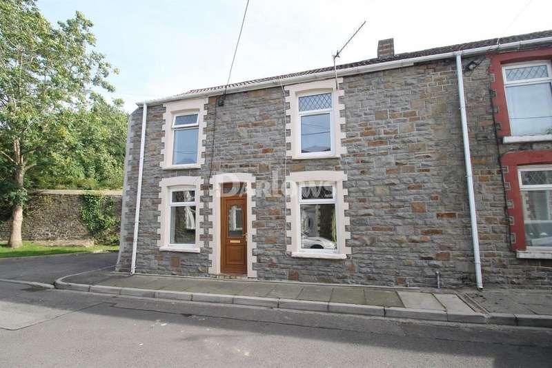3 Bedrooms End Of Terrace House for sale in Afon Street, Trehafod