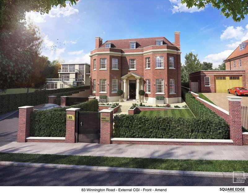 4 Bedrooms Detached House for sale in Winnington Road, N2