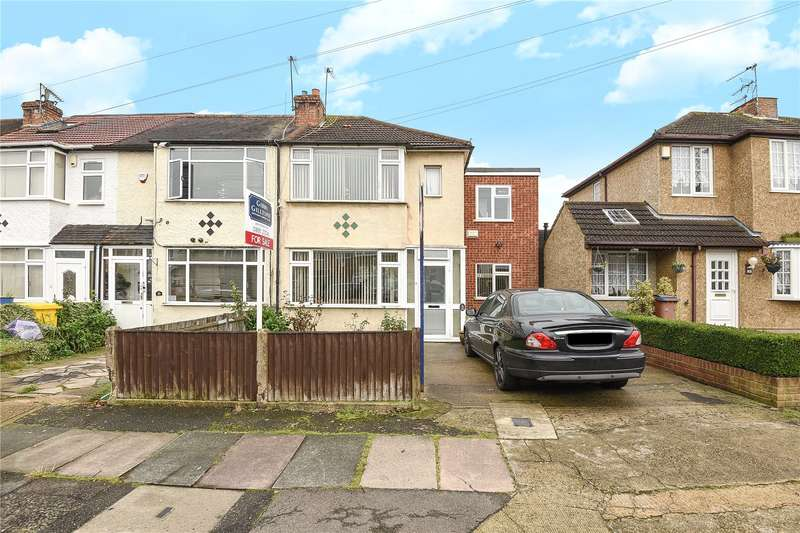 3 Bedrooms End Of Terrace House for sale in Oakleigh Road, Hillingdon, Middlesex, UB10