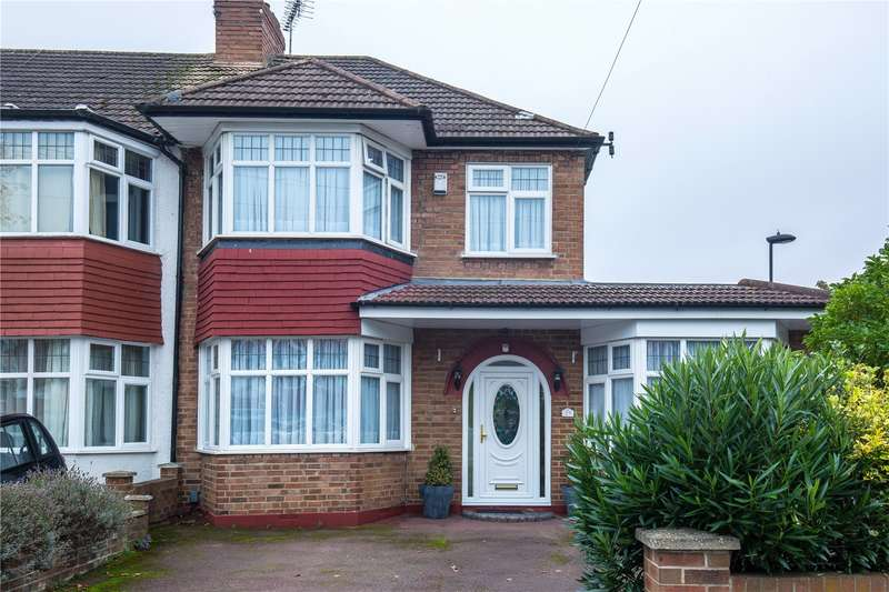 3 Bedrooms End Of Terrace House for sale in The Fairway, Palmers Green, London, N13
