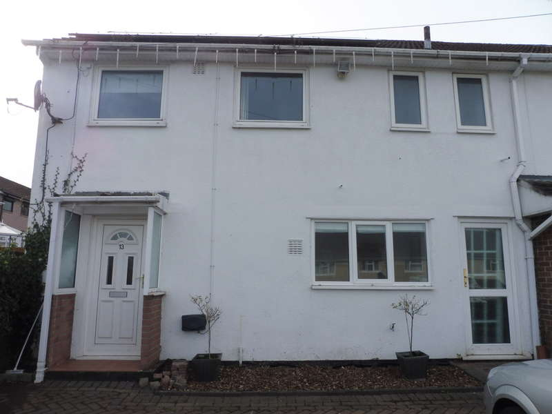 3 Bedrooms End Of Terrace House for sale in Ysgol Place, Pontnewydd, Cwmbran