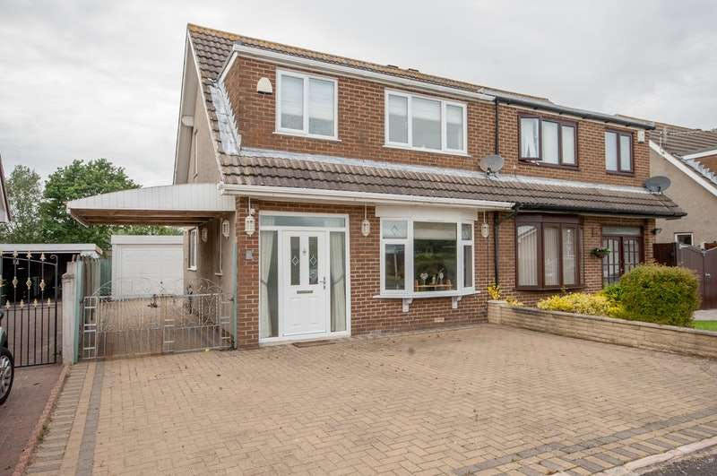 3 Bedrooms Semi Detached House for sale in Wentworth Crescent, Morecambe, Lancashire, LA3