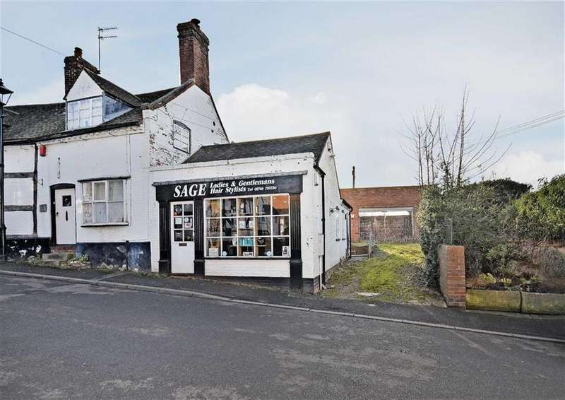 1 Bedroom Land Commercial for sale in Commercial Premises And Building Plot, 4a, High Street, Claverley, Wolverhampton, Shropshire, WV5