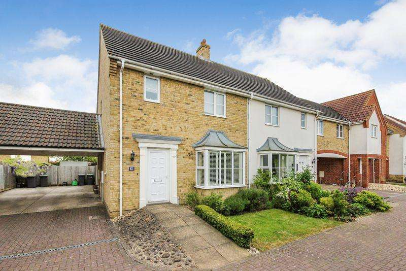 3 Bedrooms Semi Detached House for sale in Watson Way, Marston Moretaine