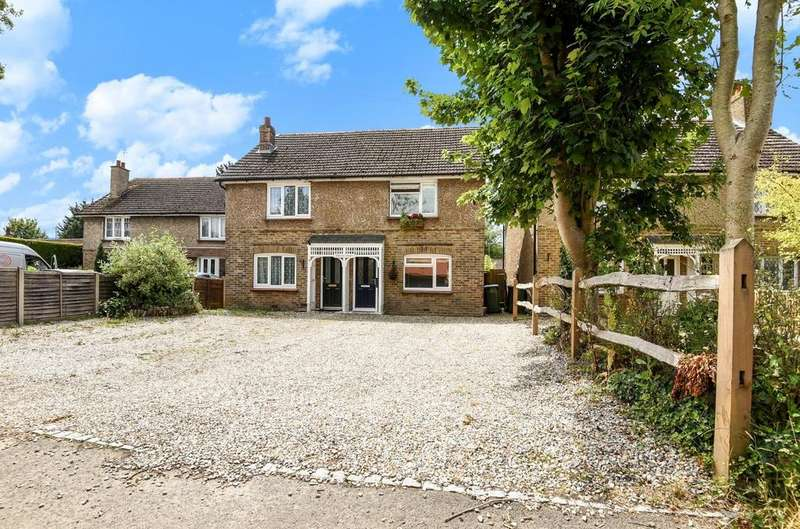 2 Bedrooms Semi Detached House for sale in Hill View Cottages, Nyton Road, Westergate, PO20