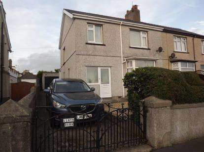 3 Bedrooms Semi Detached House for sale in Ael Y Garth, Caernarfon, Gwynedd, LL55