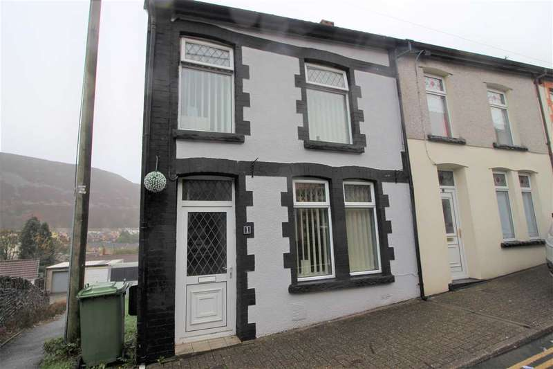 2 Bedrooms End Of Terrace House for sale in Oakdale Tce, Penrhiwfer