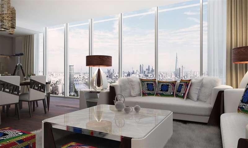 3 Bedrooms Apartment Flat for sale in Aykon London One, Bondway, London