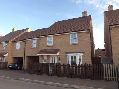 4 Bedrooms Link Detached House for sale in Rutherford Way, Biggleswade, Bedfordshire