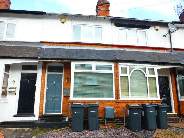 2 Bedrooms Terraced House for sale in Aubrey Road, Harborne, Birmingham, B32 2BA