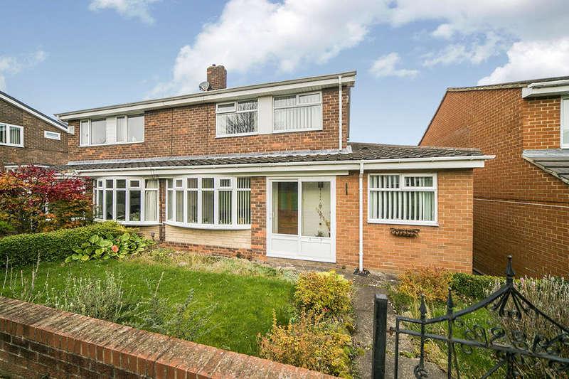 3 Bedrooms Semi Detached House for sale in Meldon Way, Blaydon-On-Tyne, NE21