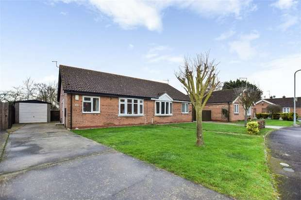 2 Bedrooms Semi Detached Bungalow for sale in Hastings Drive, Wainfleet, Skegness, Lincolnshire