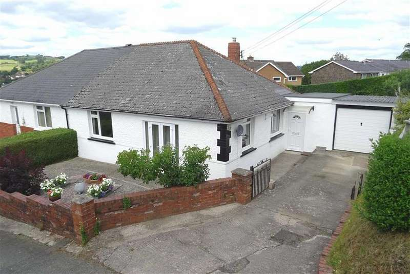 2 Bedrooms Semi Detached Bungalow for sale in The Mount, Brimmon Lane, Brimmon Lane, Newtown, Powys, SY16
