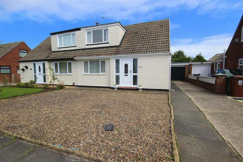 2 Bedrooms Semi Detached Bungalow for sale in Kildale Grove, Seaton Carew, Hartlepool