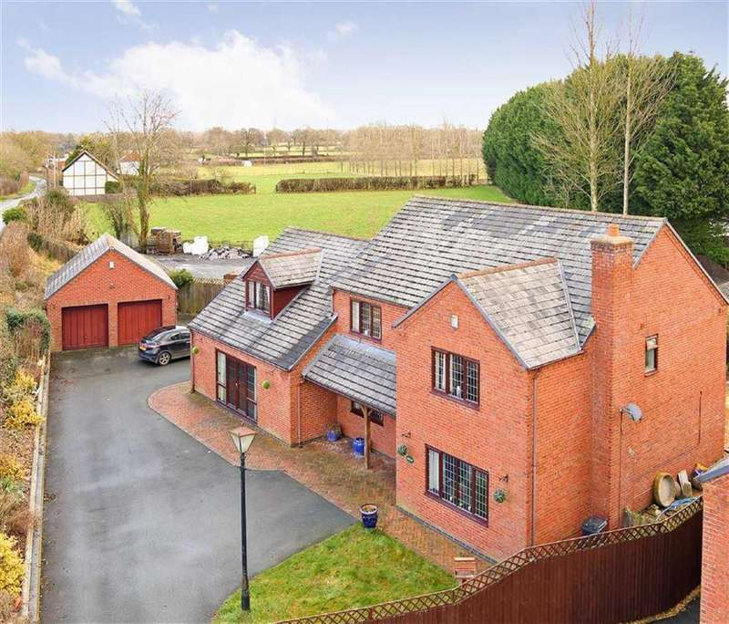 5 Bedrooms Detached House for sale in Domgay Road, Four Crosses, Llanymynech, SY22