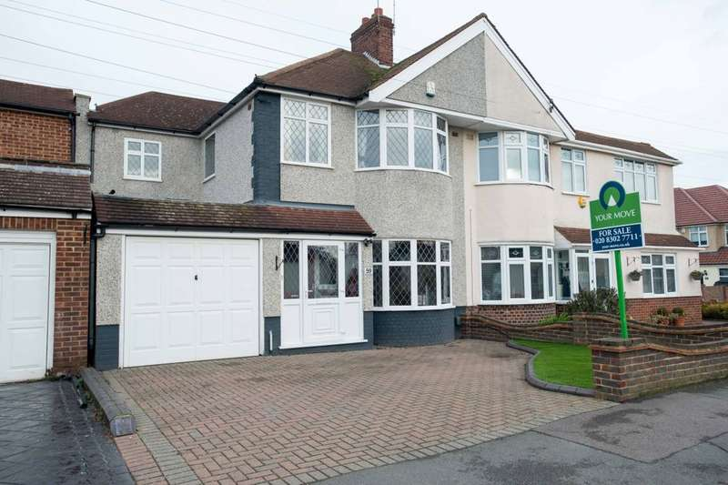 4 Bedrooms Semi Detached House for sale in Steynton Avenue, Bexley, DA5