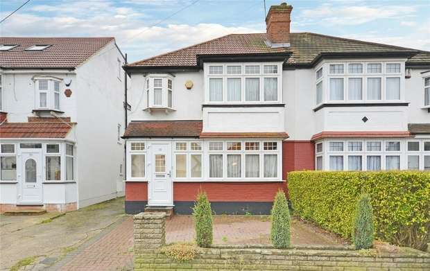 3 Bedrooms Semi Detached House for sale in Carlton Avenue West, WEMBLEY, Middlesex