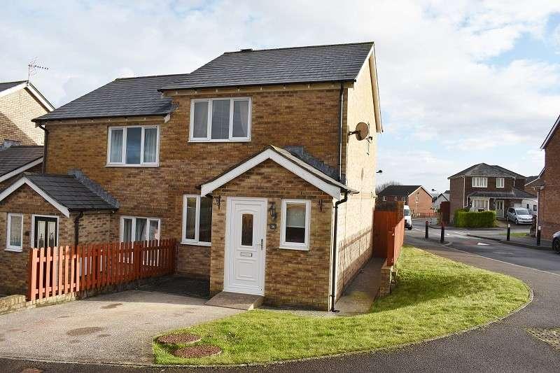 2 Bedrooms Semi Detached House for sale in Pen Llwyn , Broadlands, Bridgend. CF31 5AZ