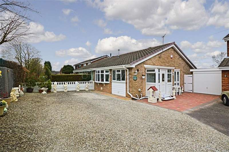 2 Bedrooms Semi Detached Bungalow for sale in Lombardy Grove, Chase Terrace, Burntwood, Staffordshire