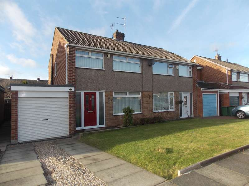 3 Bedrooms Semi Detached House for sale in Mendip Drive, Redcar, TS10 4HE
