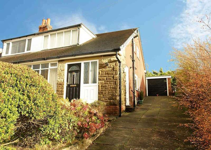 3 Bedrooms Semi Detached House for sale in Den Hill Drive, Springhead, Saddleworth