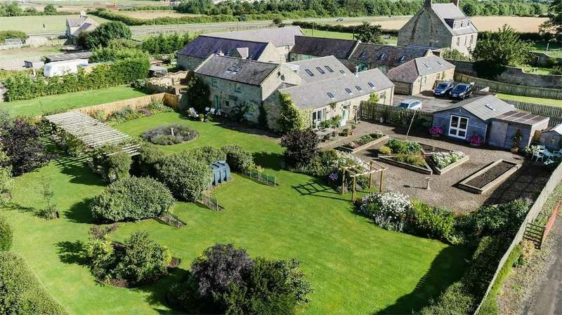4 Bedrooms Barn Conversion Character Property for sale in Greensfield Moor Farm, Alnwick, Northumberland