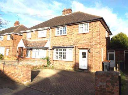 3 Bedrooms Semi Detached House for sale in Hawthorne Avenue, Bedford, Bedfordshire, .