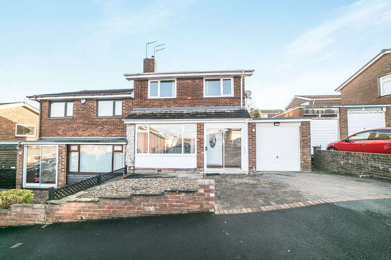 3 Bedrooms Semi Detached House for sale in Beweshill Crescent, Blaydon-On-Tyne, NE21