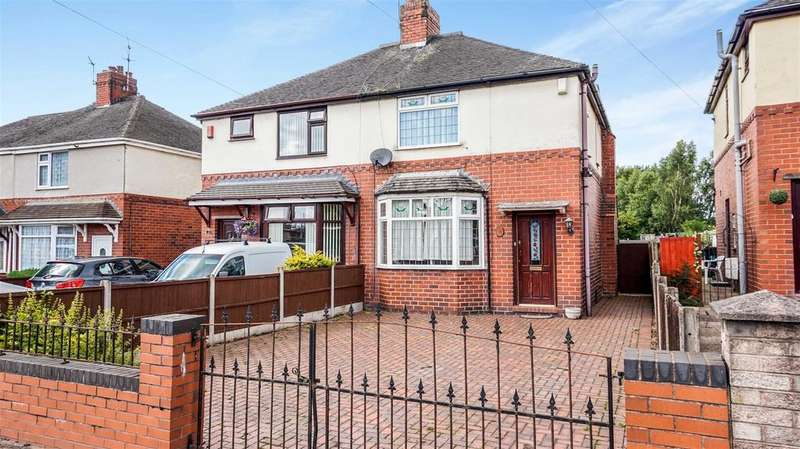 3 Bedrooms Semi Detached House for sale in Church Lane, Knutton, Newcastle, Staffs