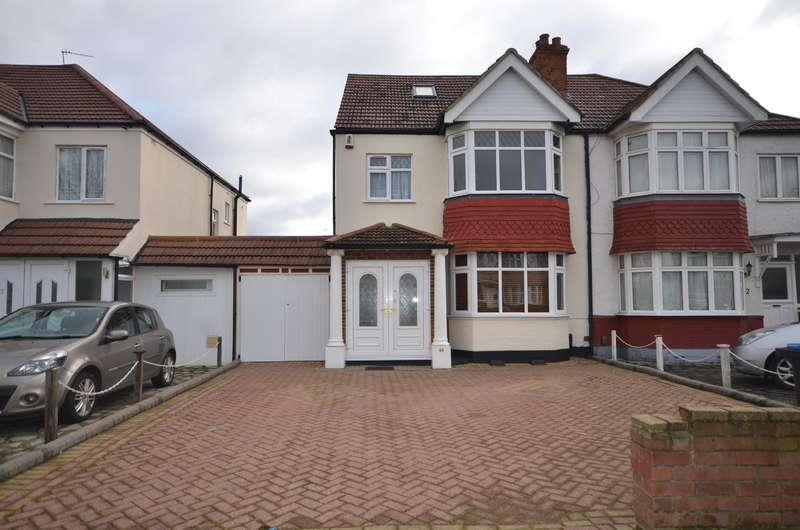 4 Bedrooms Semi Detached House for rent in St Augustines Avenue, Wembley, Middlesex, HA9 7AX