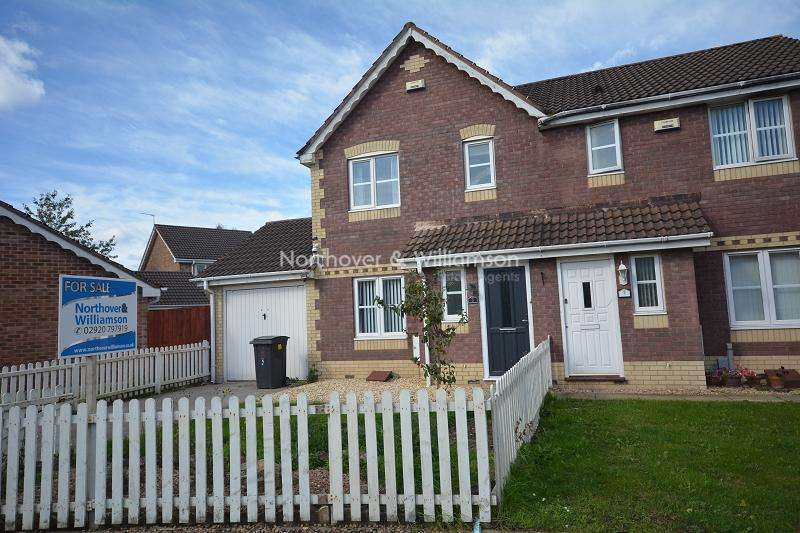 3 Bedrooms Semi Detached House for sale in Ireland Close, St Mellons, Cardiff. CF3