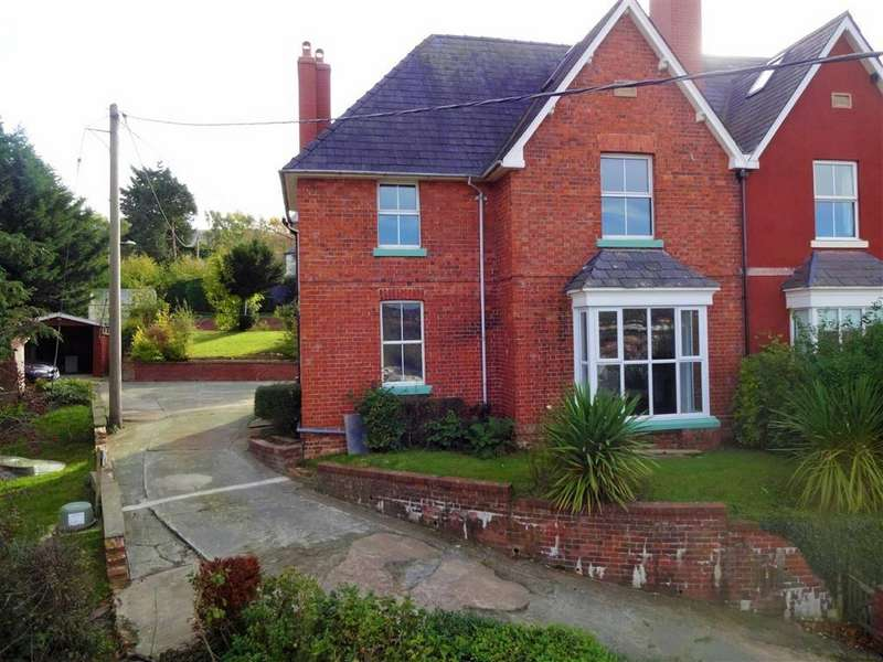 5 Bedrooms Semi Detached House for sale in 2, Oak Villas, Kerry Road, Newtown, Powys, SY16
