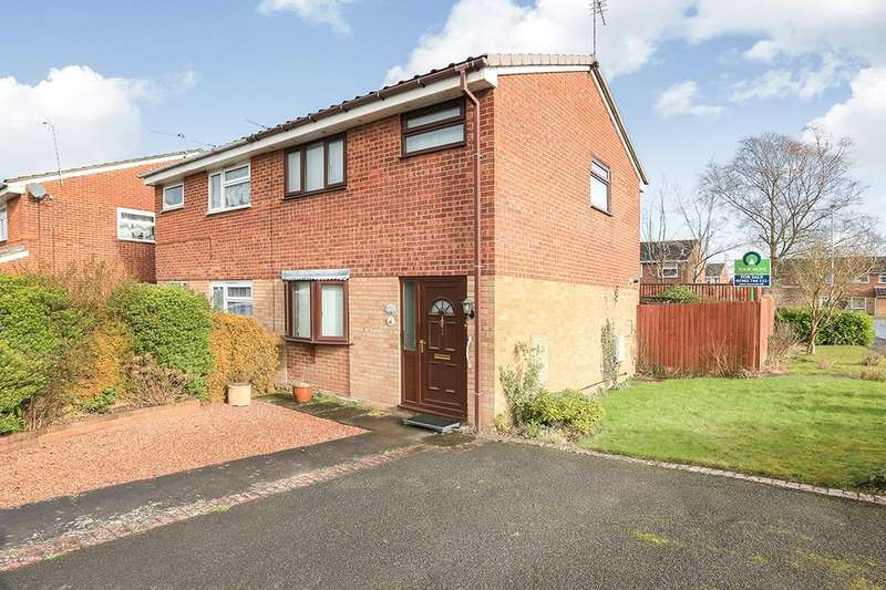 2 Bedrooms Semi Detached House for sale in Hamble Grove, Perton, Wolverhampton, WV6