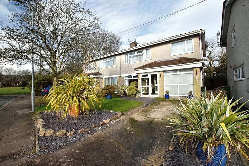 4 Bedrooms Semi Detached House for sale in Bryntirion , Rhiwbina, Cardiff. CF14 6NQ