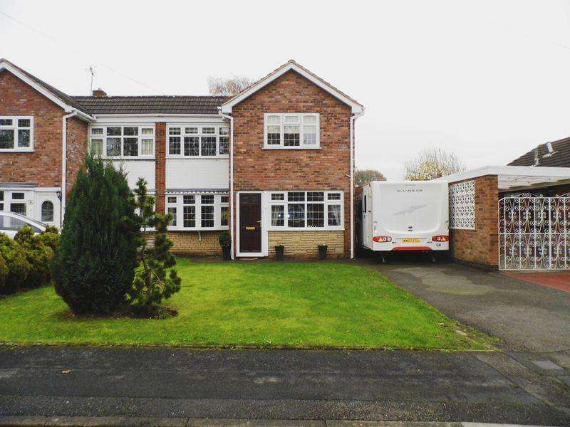 3 Bedrooms Semi Detached House for sale in Almond Close, Pelsall, Walsall.