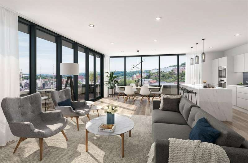 3 Bedrooms Penthouse Flat for sale in Apartment 41 New Retort House, Brandon Yard, Lime Kiln Road, Bristol, BS1