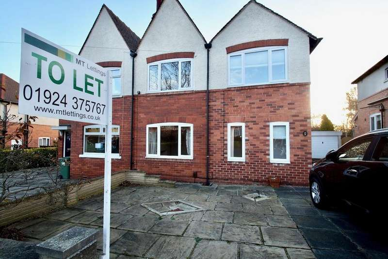 3 Bedrooms Semi Detached House for rent in Mount Crescent, Thornes Road, Wakefield WF2