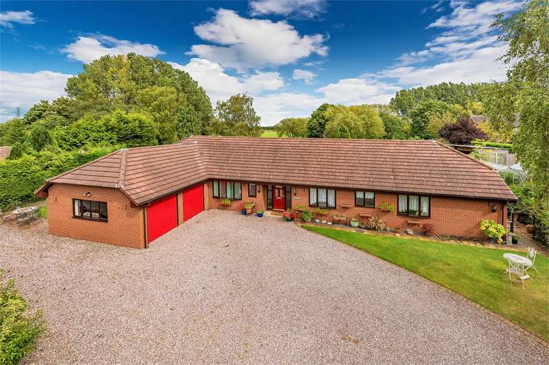4 Bedrooms Detached Bungalow for sale in Polkerris, Allscott, Telford, Shropshire, TF6