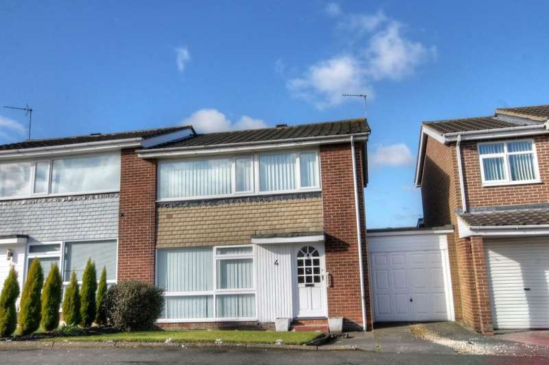 3 Bedrooms Semi Detached House for sale in Glenhurst Drive, Chapel Park, Newcastle Upon Tyne, NE5