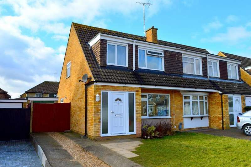 3 Bedrooms Semi Detached House for sale in Edgewood Drive, Putteridge, Luton, Bedfordshire, LU2 8ER