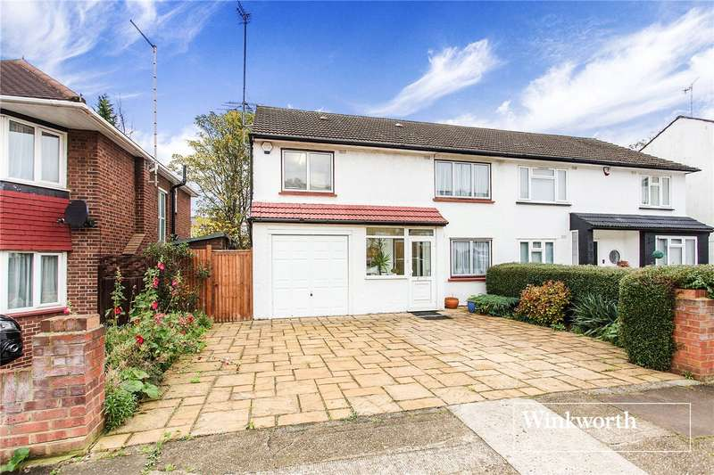 3 Bedrooms Semi Detached House for sale in Howcroft Crescent, Finchley, London, N3