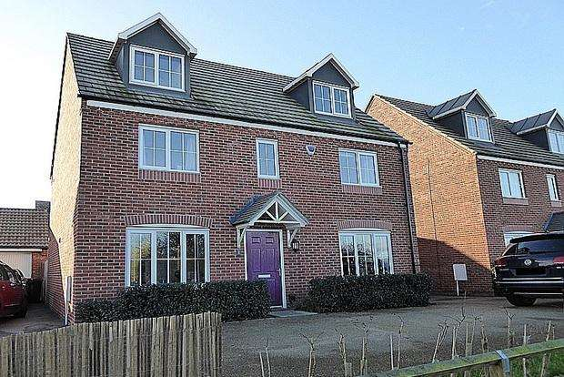 5 Bedrooms Detached House for sale in Mayfly Road, Dragonfly Meadows, Northampton, NN4