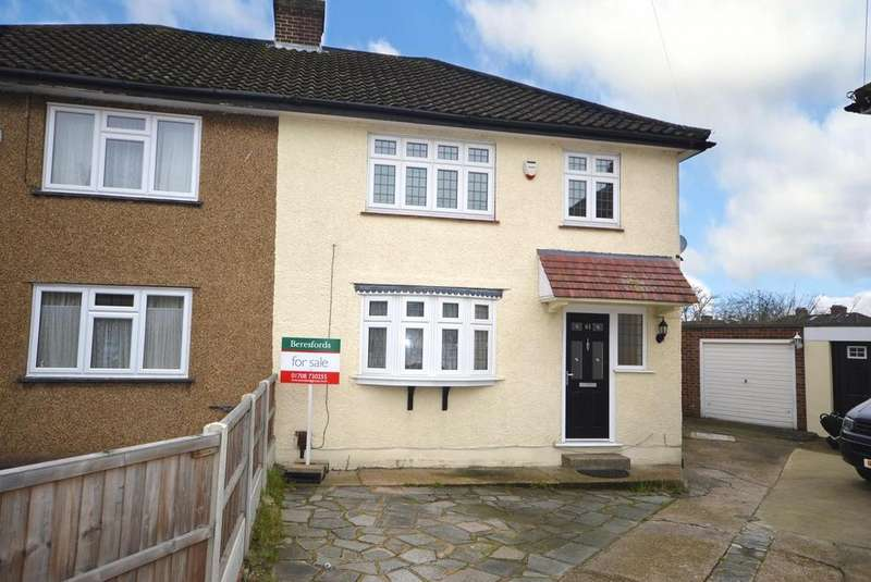 3 Bedrooms Semi Detached House for sale in Walmer Close, Romford, RM7